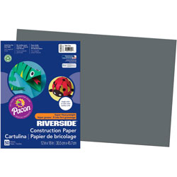 Pacon Construction Paper, 12 x 18, Slate Gray, 50 Sheets