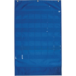 "Pacon Calendar/Weather Pocket Chart, 23-3/4"" x 38"", Blue"