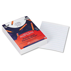 "Pacon Multi-Program Handwriting Paper, 1/2"" Short Rule, 10-1/2 x 8, White, 500 Sheets"