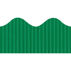 "Pacon Scalloped Decorative Border, 2 1/4""x50', Emerald"