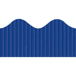 "Pacon Scalloped Decorative Border, 2 1/4""x50', Rich Blue"