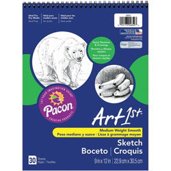 "Pacon Medium Weight Acid Free Sketch Books, 9"" x 12"""