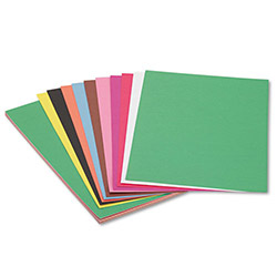 Pacon Construction Paper, 58 lbs., 12 x 18, Assorted, 50 Sheets/Pack