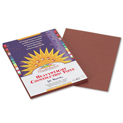Pacon Construction Paper, 58 lbs., 9 x 12, Dark Brown, 50 Sheets/Pack