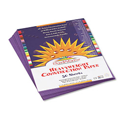 Pacon Construction Paper, 58 lbs., 9 x 12, Violet, 50 Sheets/Pack