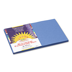 Pacon Construction Paper, 58 lbs., 12 x 18, Blue, 50 Sheets/Pack