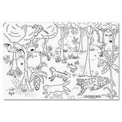 "Pacon Learning Walls Paper, Rain Forest, 72"" X 48"""