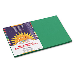 Pacon Construction Paper, 58 lbs., 12 x 18, Holiday Green, 50 Sheets/Pack