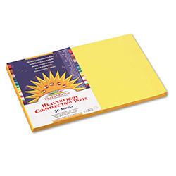 Pacon Construction Paper, 58 lbs., 12 x 18, Yellow, 50 Sheets/Pack