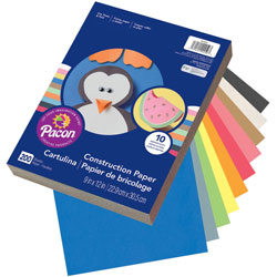 "Pacon Economy Construction Paper, 200 sheet, 9""x 12"", Assorted"