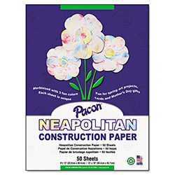 Pacon Neapolitan Construction Paper, 9 x 12, Marbled, 50 Sheets, 24/Pack