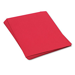 Pacon Construction Paper, 58 lbs., 18 x 24, Holiday Red, 50 Sheets/Pack