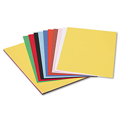 Pacon Sulphite Construction Paper, 76 lbs., 12 x 18, Assorted