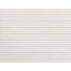 "Pacon Broken Midline Paper, 5/8""x5/16"" Long Rule, 10 1/2""x8"", WE"