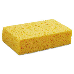 "Boardwalk Large Cellulose Sponge, 3 2/3 x 6 2/25"", 1 11/20"" Thick, Yellow, 24/Carton"