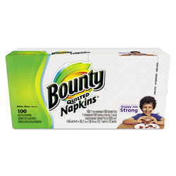 Bounty Everyday Napkins, White, 1 Ply, Pack of 100