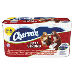 Charmin Bathroom Tissue, 2-Ply, 165 Sht/RL, Dbl Roll, 16/PK, White