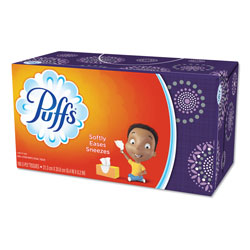 Puffs White Facial Tissue, 1-Ply, 180 Sheets,
