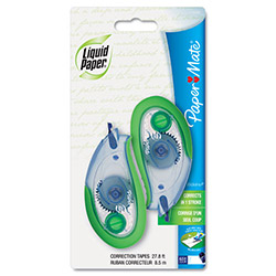 Papermate® Correction Tape, White, 2/Pack