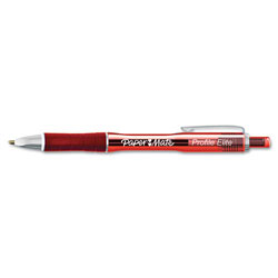 Papermate® Elite Retractable Ballpoint Pen, Red Ink, Bold