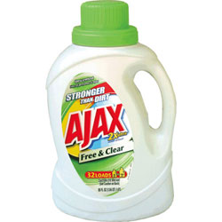 Ajax 2X Free & Clear Liquid Laundry Detergent, 50 oz.