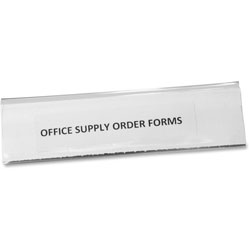 "Panter Clear Magnetic Label Holders, 6"" x 1 1/2"", 10/Pack"