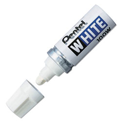 Pentel Permanent Marker, Broad Tip, White Ink