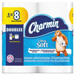 Charmin Ultra Soft Bathroom Tissue, 2-Ply, 4 x 3.92, 154 Sheets/Roll, 4 RL/PK, 10 PK/CT