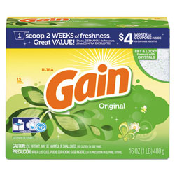Gain Original Scent Powder Laundry Detergent, 16 Oz, Case of 15