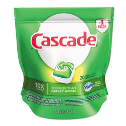 Cascade ActionPacs Automatic Dishwasher Detergent, Case of 5