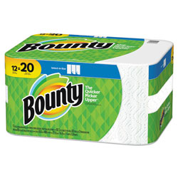 Bounty Select-a-Size Perforated Roll Towels, 11 x 5.9, White, 105 Sheets/Roll, 12/Pack