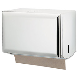 San Jamar White Steel Singlefold Paper Towel Dispenser