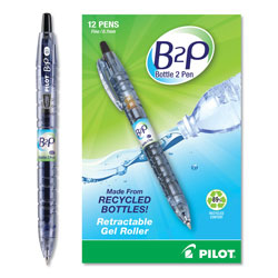 Pilot Gel Pen, Retractable, Refillable, Fine Point, Black