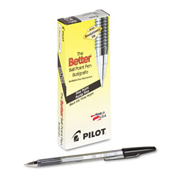 Pilot Ballpoint Pen, Fine Point, Refillable, Black Ink