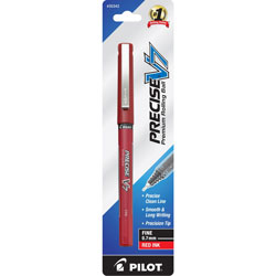 Pilot Rollerball Pen, Fine Point, Red Ink
