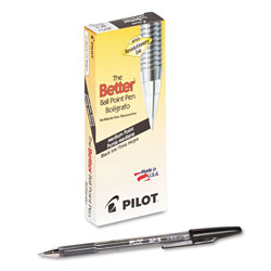 Pilot Ballpoint Pen, Medium Point, Refillable, Black Ink