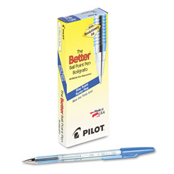 Pilot Ballpoint Pen, Fine Point, Refillable, Blue Ink