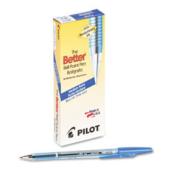 Pilot Ballpoint Pen, Medium Point, Refillable, Blue Ink