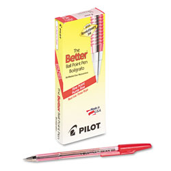 Pilot Ballpoint Pen, Fine Point, Refillable, Red Ink