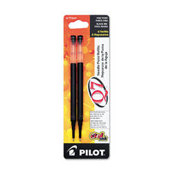 Pilot Refills for Q7 Retractable Gel Roller Ball Pen, Needle Tip, Black Ink, 2/Pack