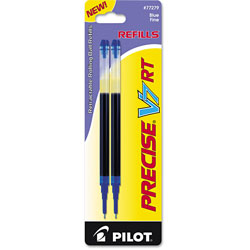 Pilot Refills for Precise V7 RT Rolling Ball Pens, Fine Point, Blue Ink, 2/Pack