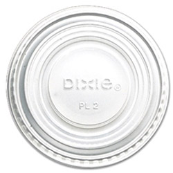 Dixie Clear Plastic Lid For 2.5-Oz Portion Cups