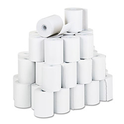 "PM Company Bulk Recycled Cash Register Paper Rolls, 3 1/4"" Wide x 150 Ft.White"