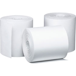 "PM Company Bulk Thermal Register Cash Roll, 3-1/8""x220', 50/CT, White"