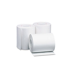 "PM Company Bulk Single-Ply Thermal Cash Register/Point of Sale Roll, 4-3/8"" x 127 ft, 50/Carton"