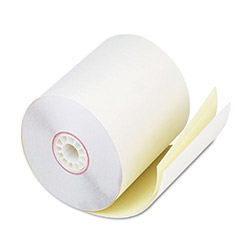 "PM Company Bulk Carbonless Duplicate Cash Register Rolls, 2 3/4""x90', White/Canary, 50 Rolls/Ctn"