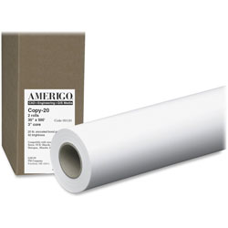 "PM Company Copy20 30"" X 500 Ft Wide Format Paper, White, 2 Rolls"