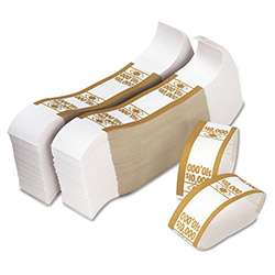 PM Company Currency Straps, $10,000, White/Mustard
