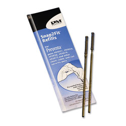 PM Company Counter Refills for Preventa, MMF Kable & Sentry Medium Point, Black, 2/Pack