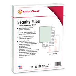 Paris Business Forms Multifunction Security Paper, 8 1/2 x 11, Green, 500 Sheets/RM
